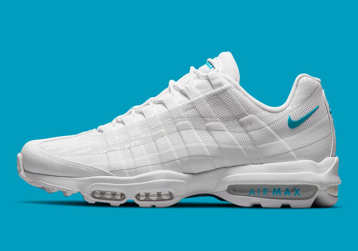 Nike Air Max 95 Ultra Blanche / Bleu Glacier DM2815-100 - Crumpe