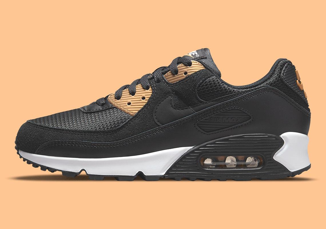 Nike Air Max 90 Noir / Or DM7557-001 - Crumpe