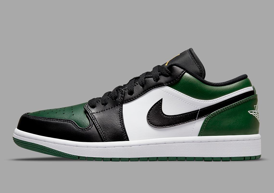 Air Jordan 1 Low Vert Toe 553558-371 - Crumpe
