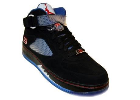 Air Jordan Fusion Force V Black/Blue Ribbon on Eastbay.com