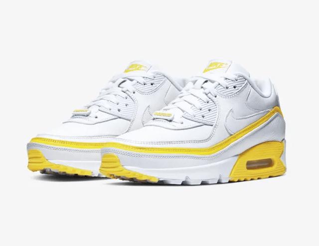 UNDEFEATED x Nike Air Max 90 White/Opti Yellow
