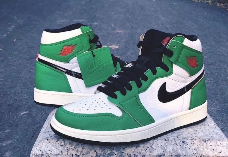 Women's Air Jordan 1 High Lucky Green