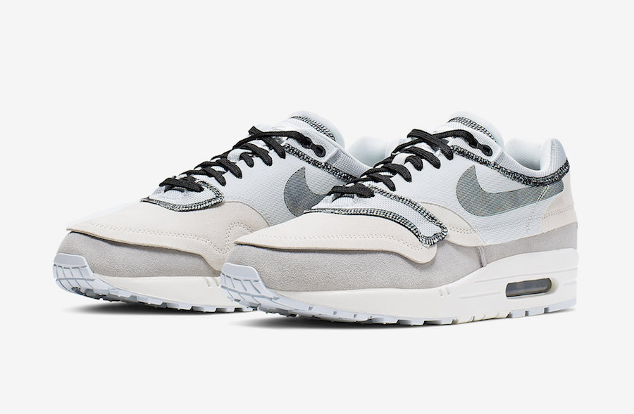 """3a6f737f77 Light Grey """"Inside Out"""" Air Max 1 Official Photos"""