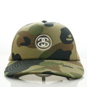 BAPE-STUSSY-TRUCKER-HAT