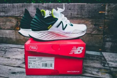 new balance shoes on box