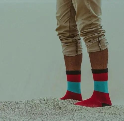 socks in sand