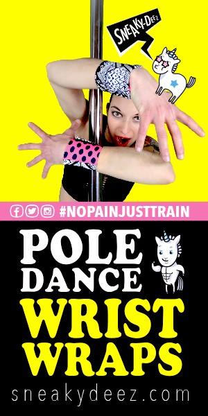Pole Dance Wrist Wraps by SneakyDeez!