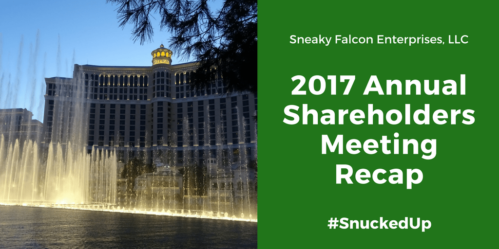 SFE 2017 Shareholders Meeting Recap – #SnuckedUp
