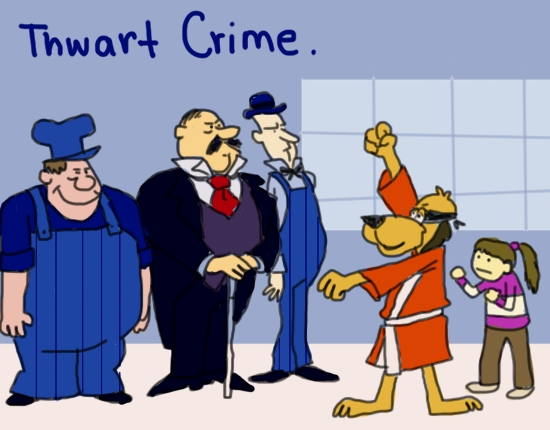 Hong Kong Phooey Thwarting Crime by Amanda Wood