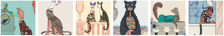 Art Deco Cats