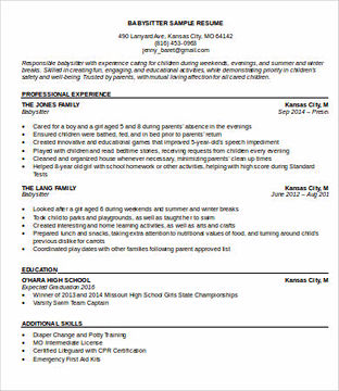 Things To Know About Making A Good Babysitter Resume