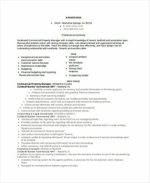 Property Manager Resume Sample And Tips