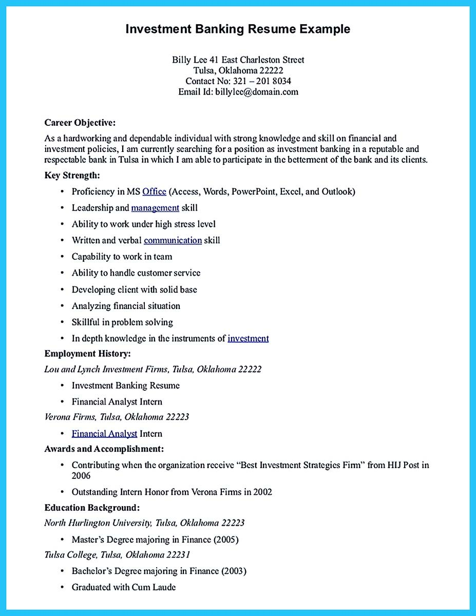 goals in resume example