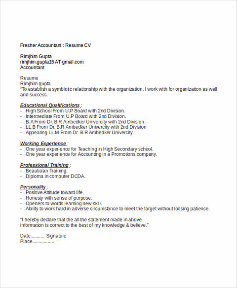 words to use on accounting resume