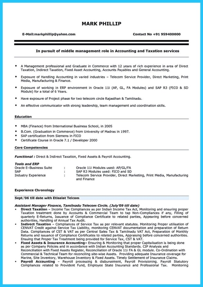 How To Write An Accounting Resume - Resume Sample