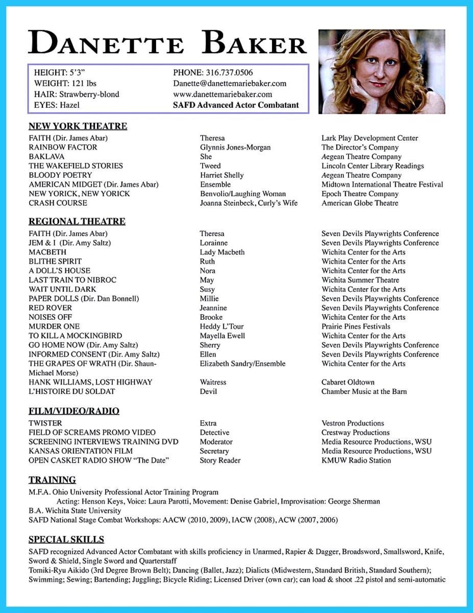 Amazing Actor Resume Samples To Achieve Your Dream