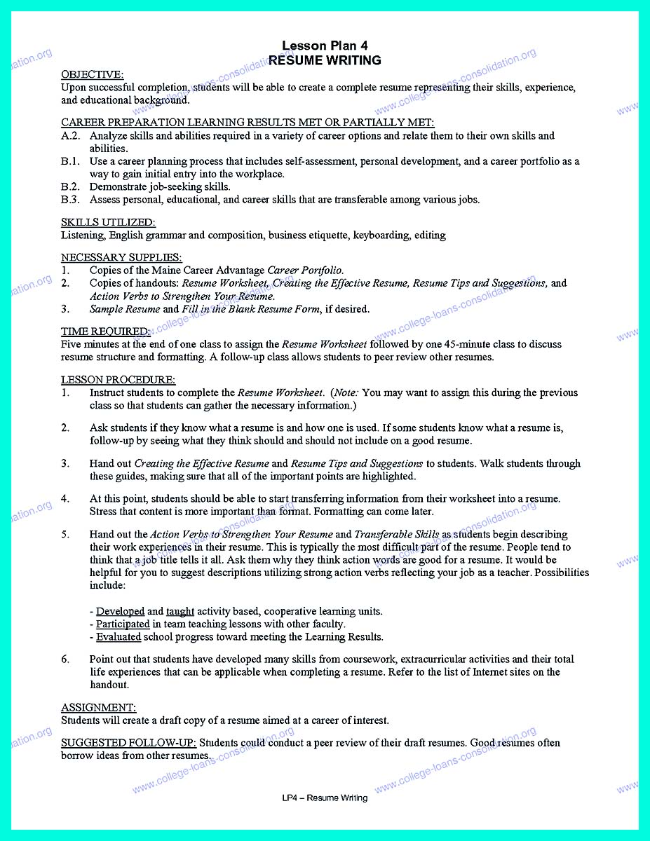 College Resume Template The Perfect College Resume Template To Get A Job