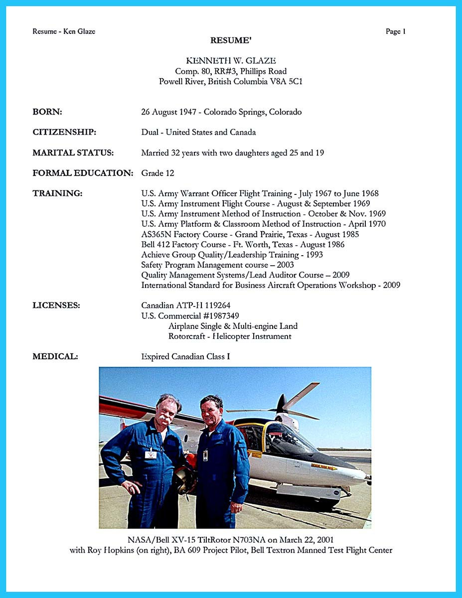 airline resume
