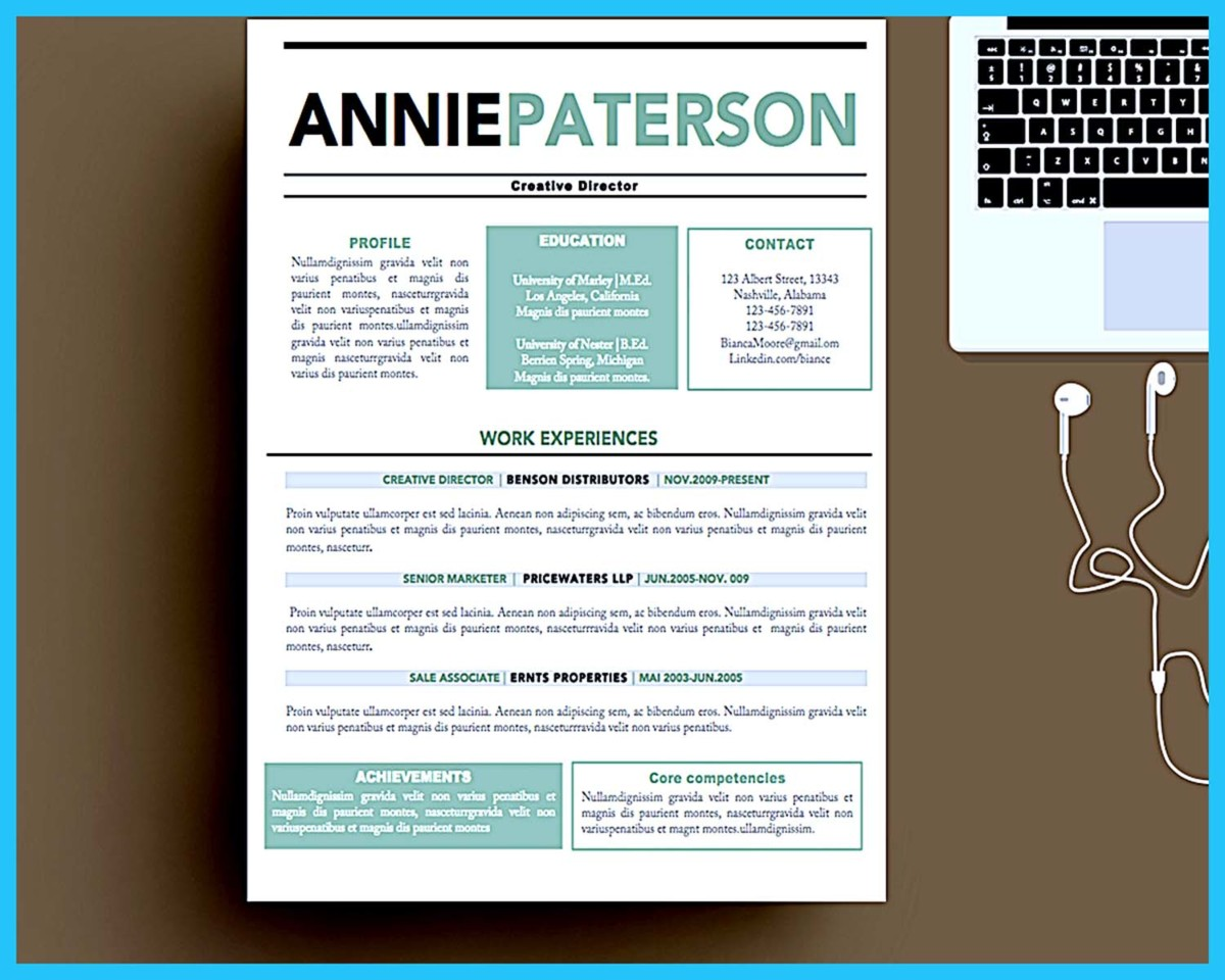 Custom and Unique Artistic Resume Templates for Creative Work