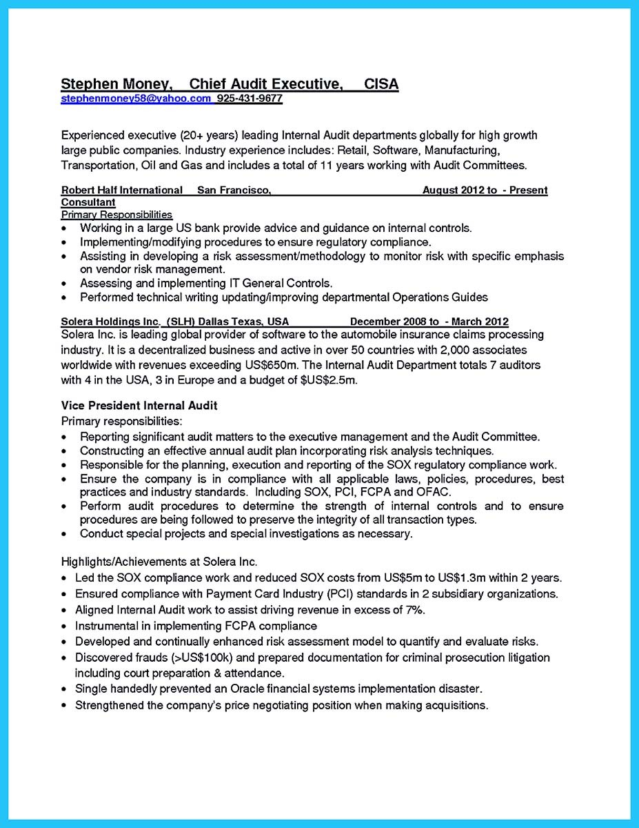 Making a Concise Credential Audit Resume