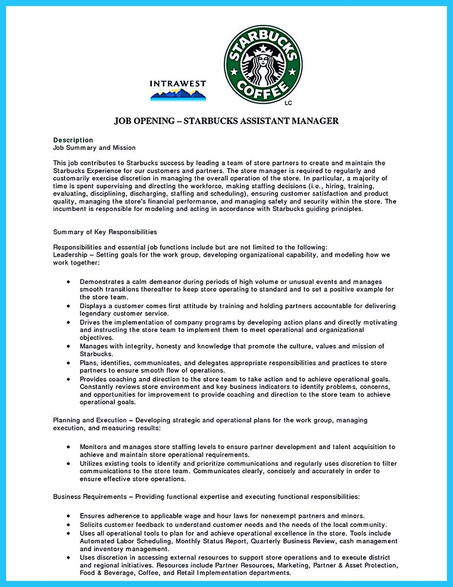 barista resume sample no experience