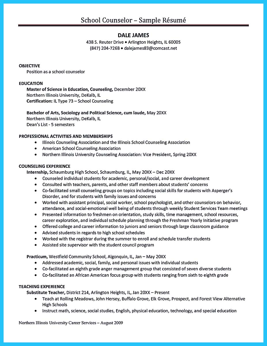 Nc School Counselor Cover Letter Outstanding Counseling Resume Examples To Get Approved