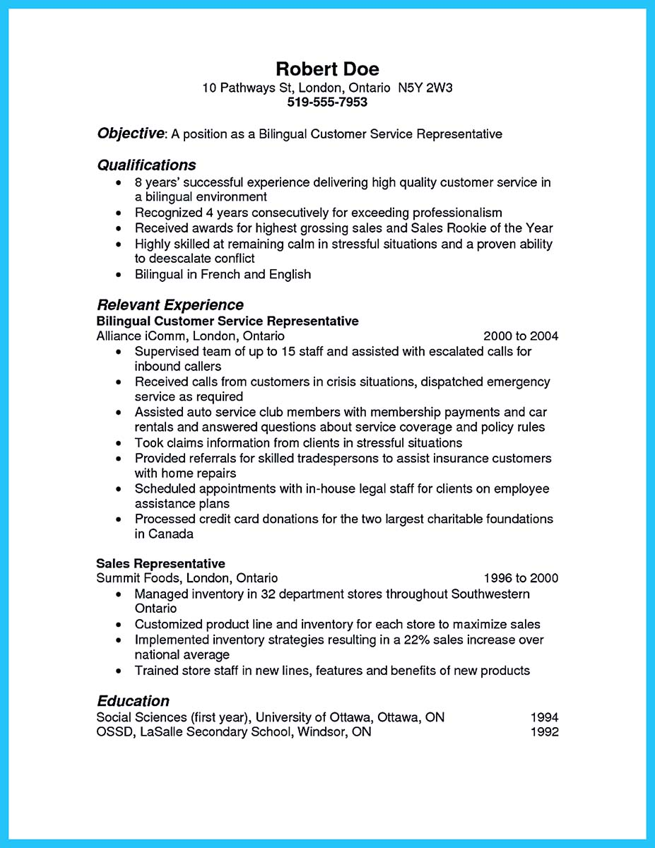 Call Center Resume Example - Examples of Resumes