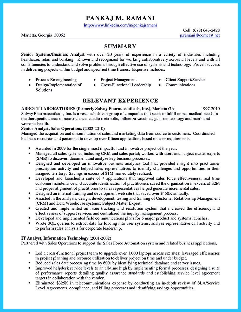 Sample Cover Letter For Technical Business Analyst | Create ...