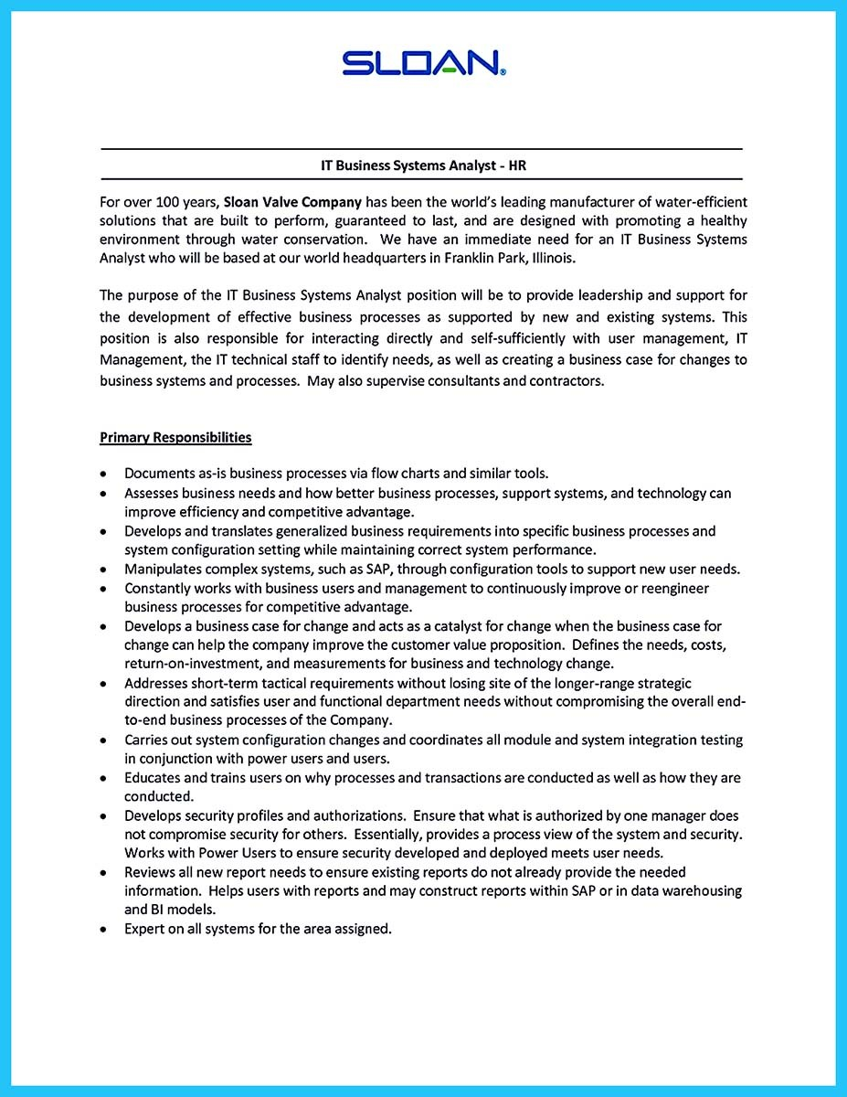 Create Your Astonishing Business Analyst Resume and Gain the Position