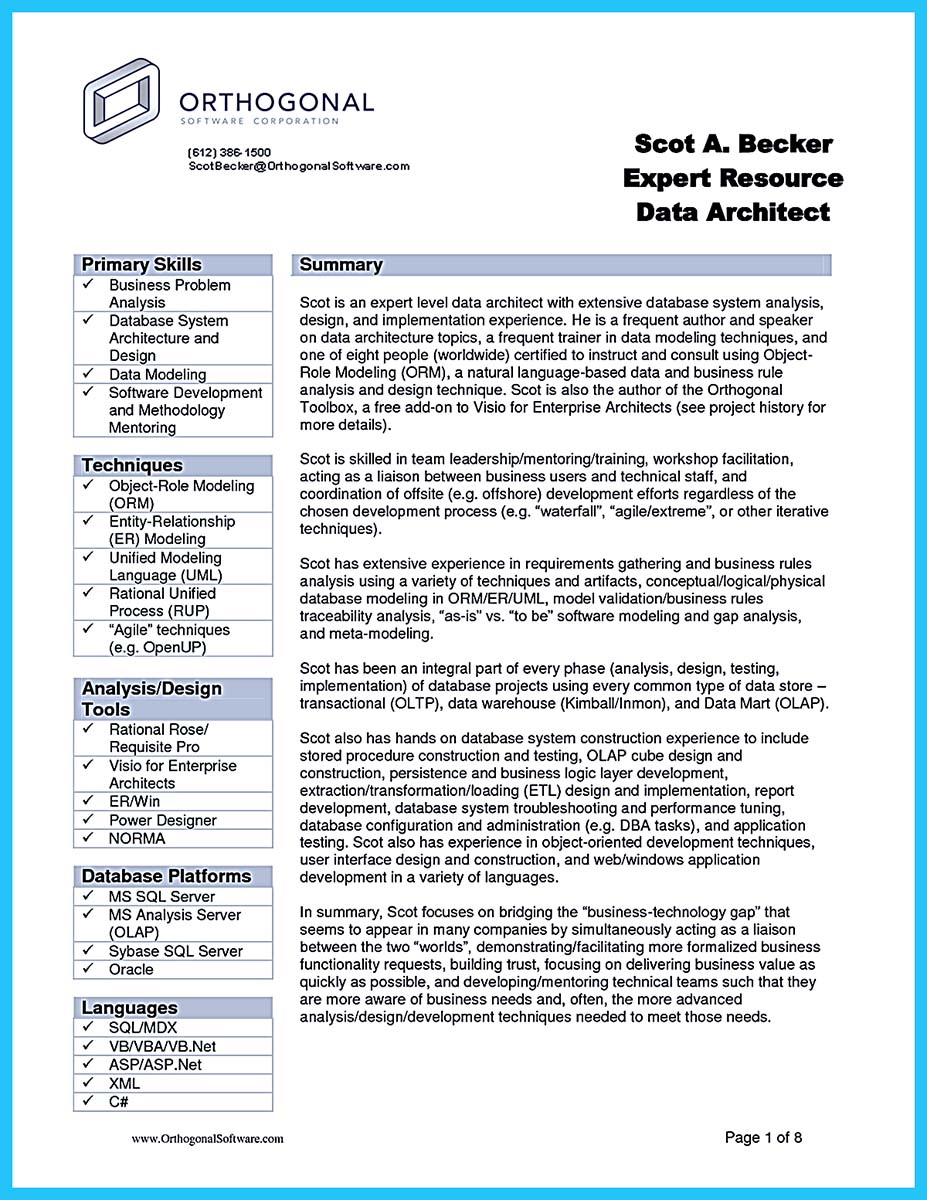 Incredible Formula to Make Interesting Business Intelligence Resume