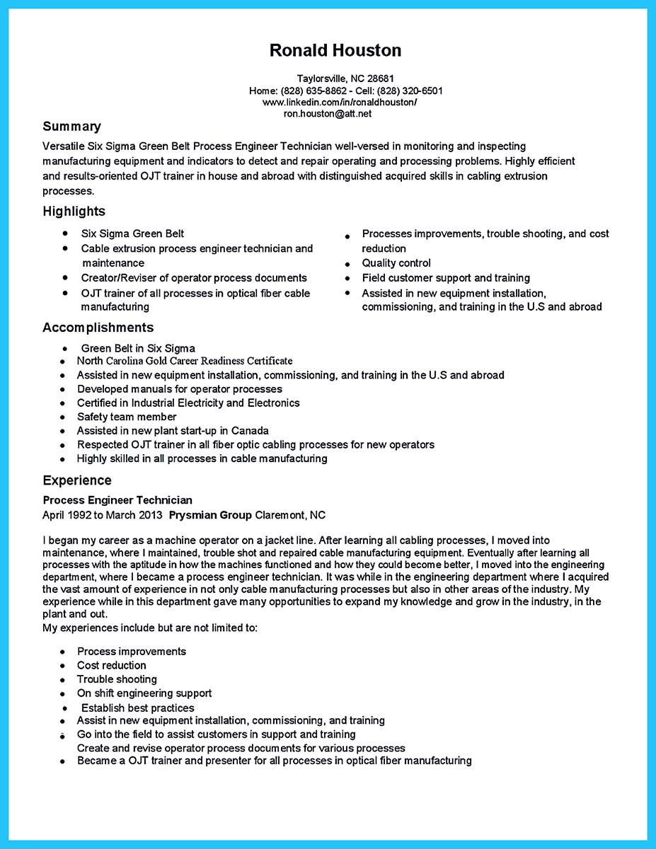 cable technician resume sample
