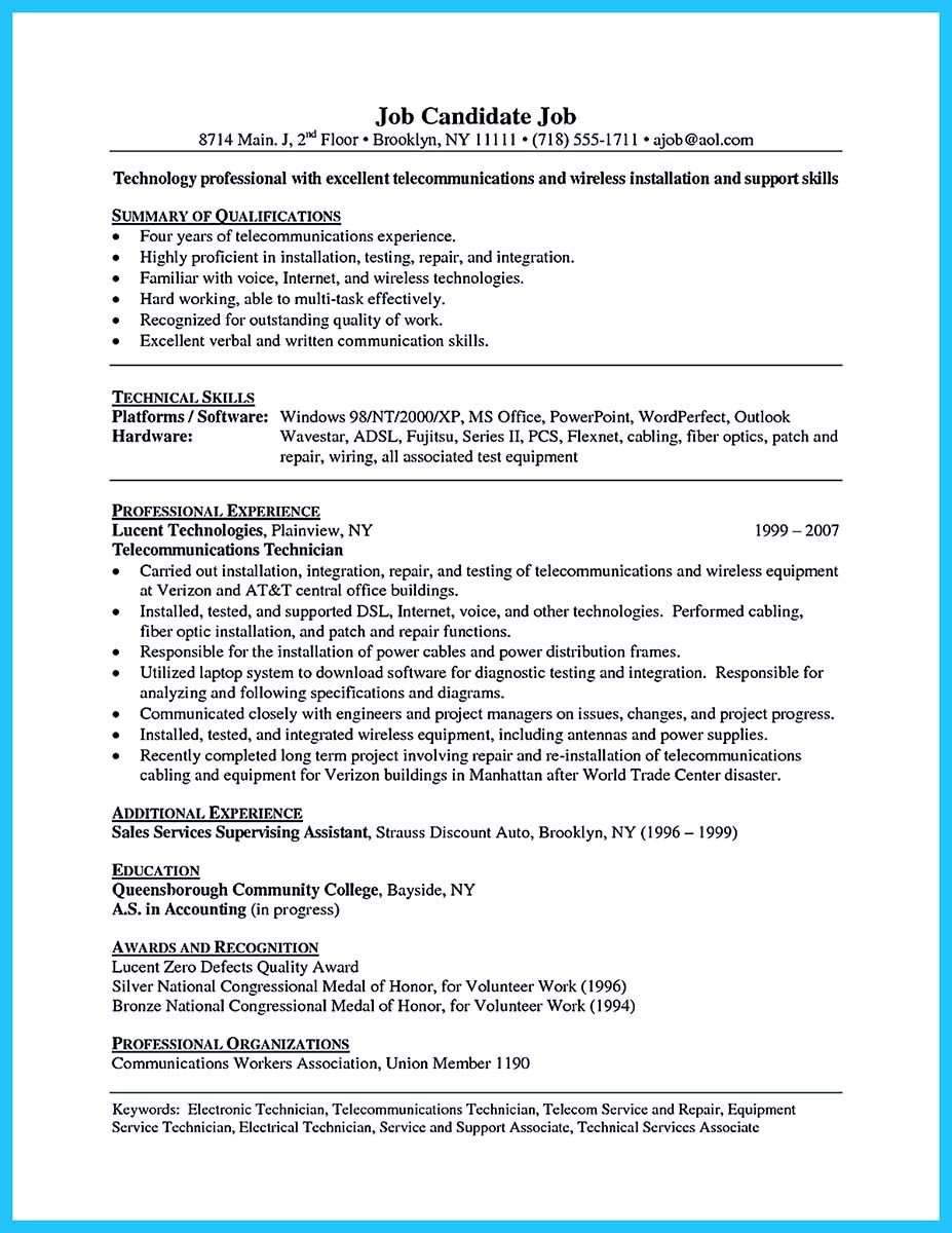 Telecom Installer Cover Letter Pc Support Technician Cover Letter
