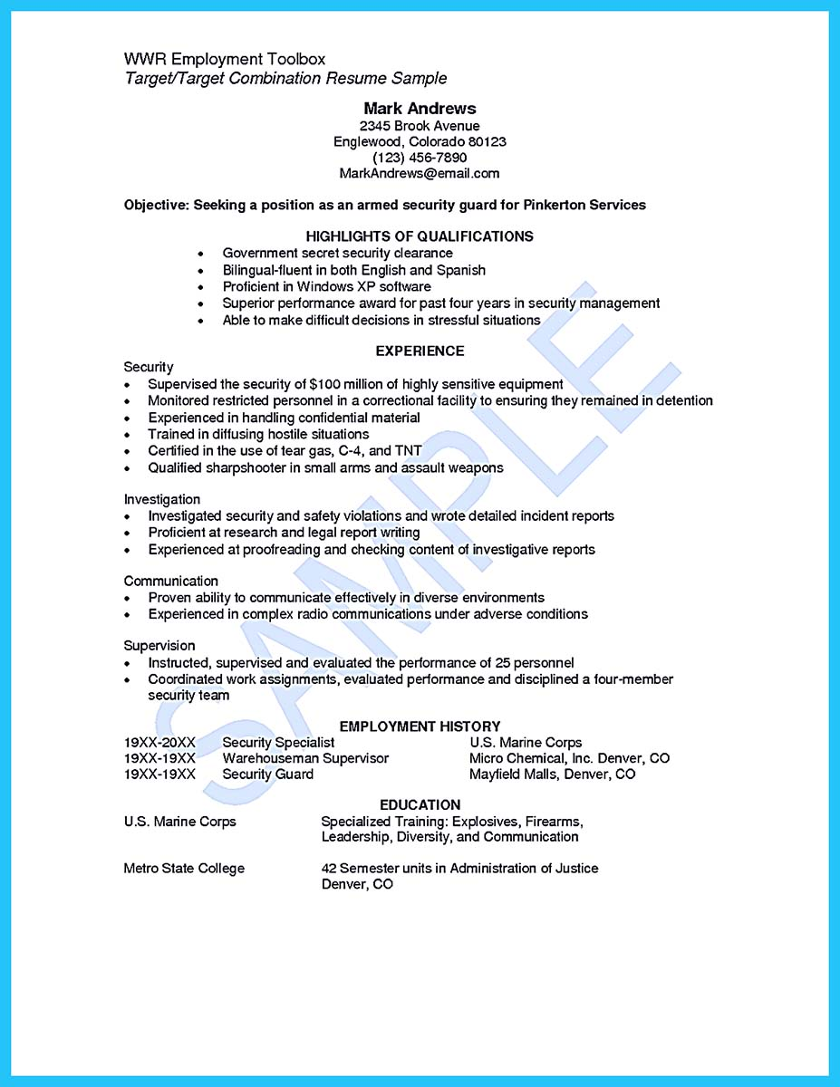 Government Armed Security Guard Cover Letter | University Police ...