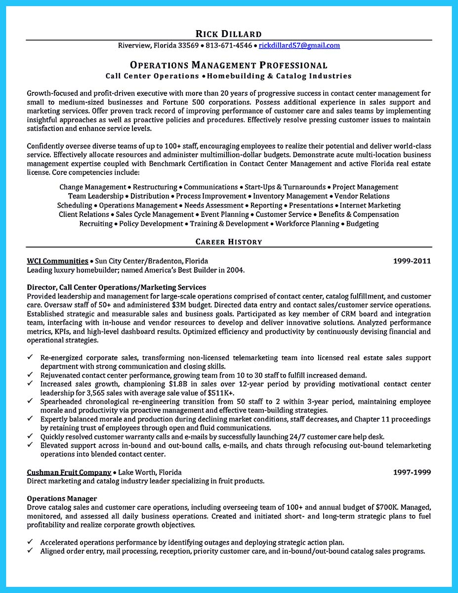 Cool Information and Facts for Your Best Call Center Resume Sample