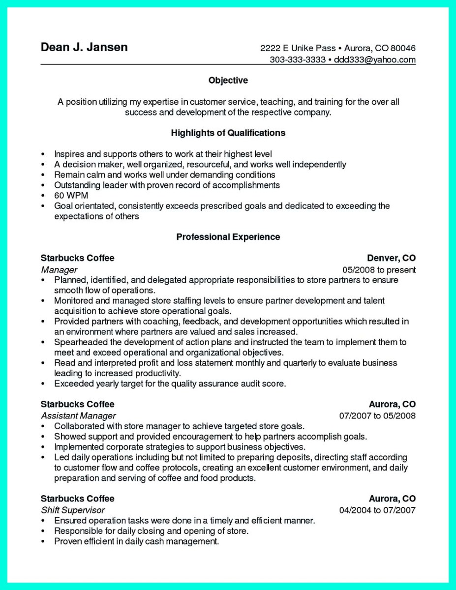 Cashier Objective Resume Examples
