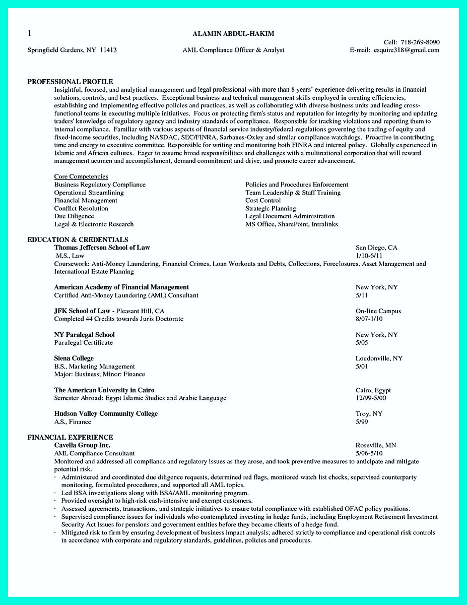 Legal Officer Resume Sample Best Compliance Officer Resume To Get Manager S Attention