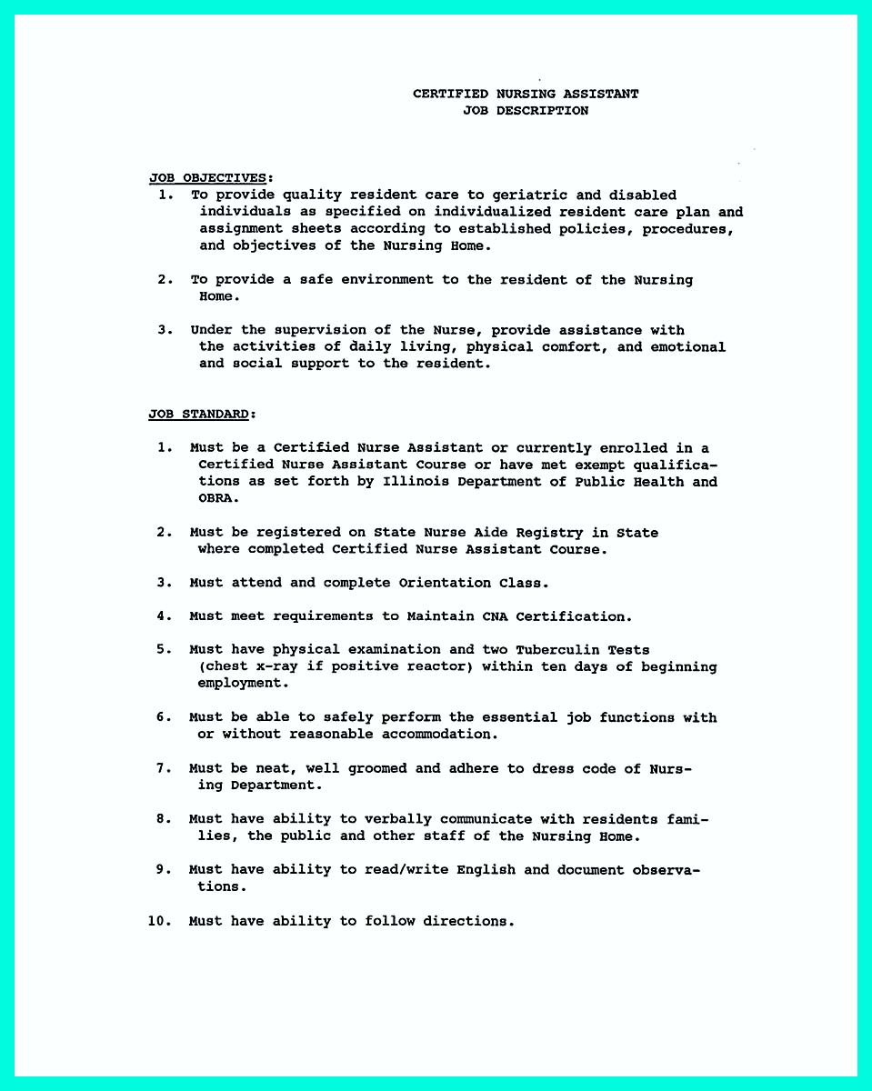 Resume examples for cna examples of resumes sample resume for certified nursing assistant with no experience 1betcityfo Gallery