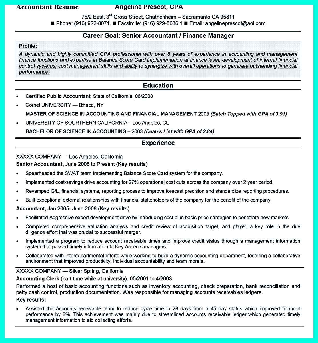 Investment Accountant Resume Quotmention Great And Convincing Skills Quot Said Cna Resume Sample
