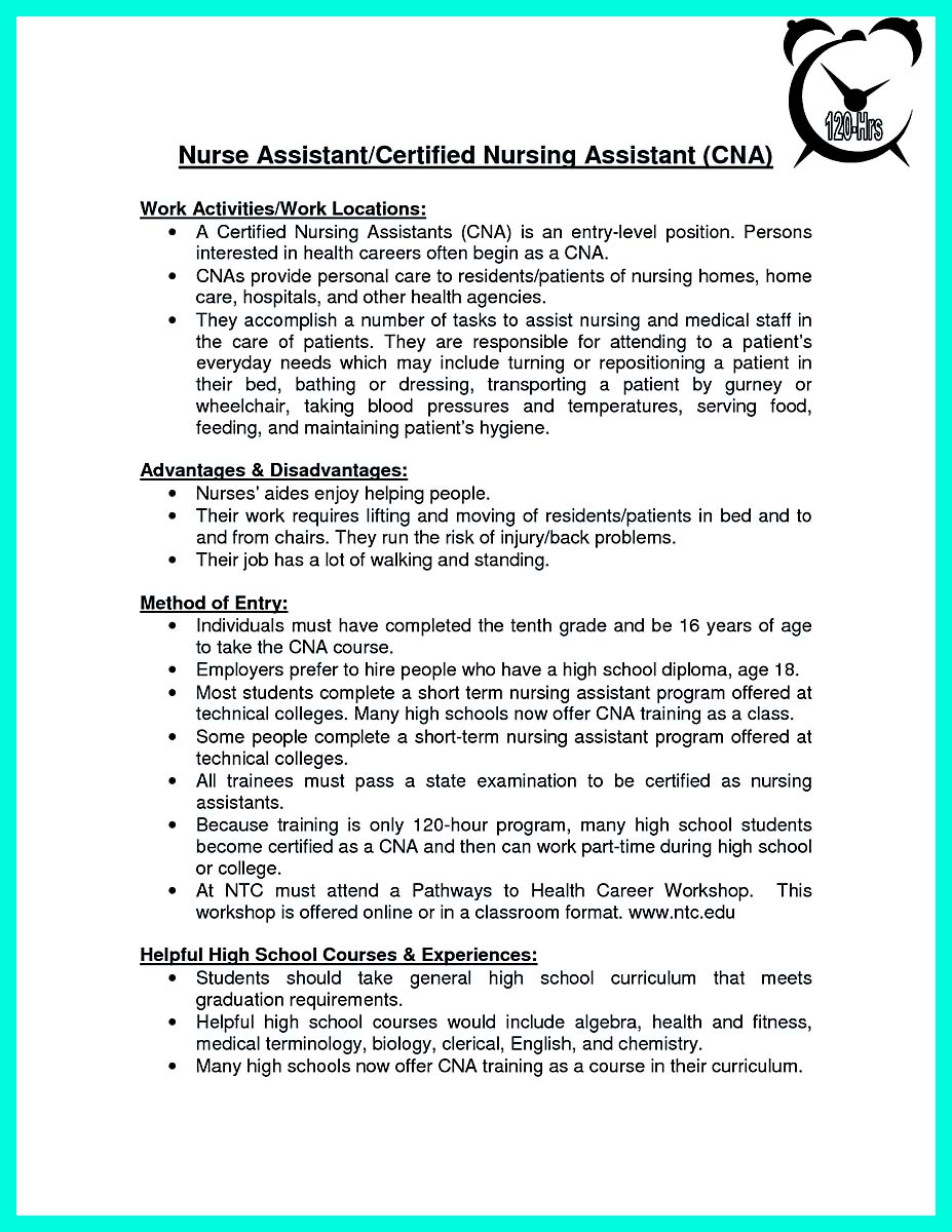 """Mention Great And Convincing Skills"" Said CNA Resume Sample"