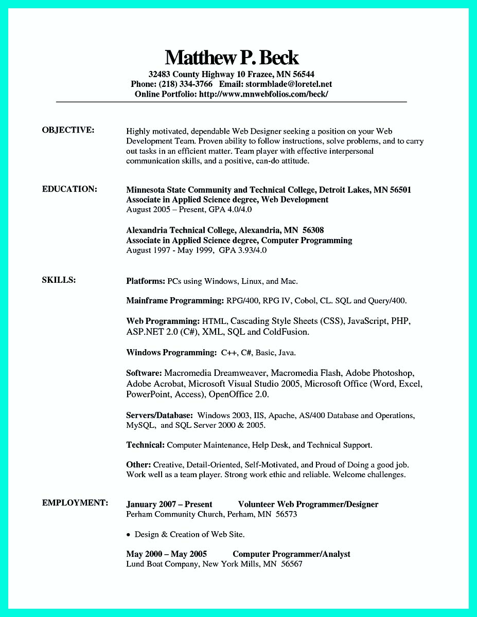 resume template for pdf