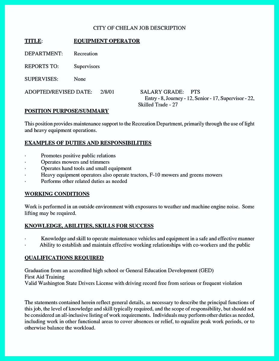 Writing Your Qualifications In CNC Machinist Resume? A Must!