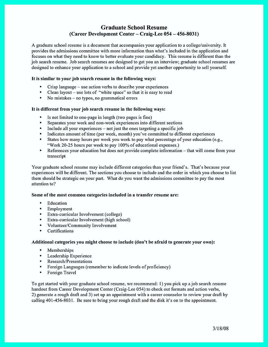 The Perfect College Resume Template to Get a Job