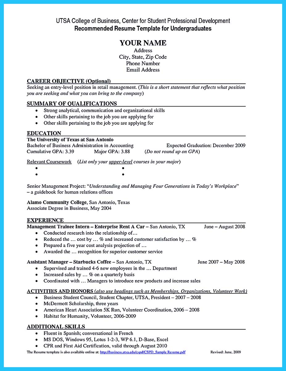 examples of good education resumes