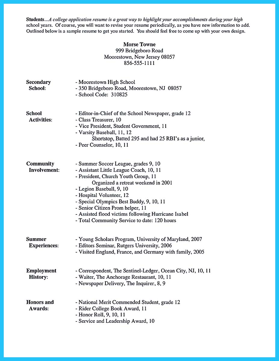 Cover Letter Student Resume Example