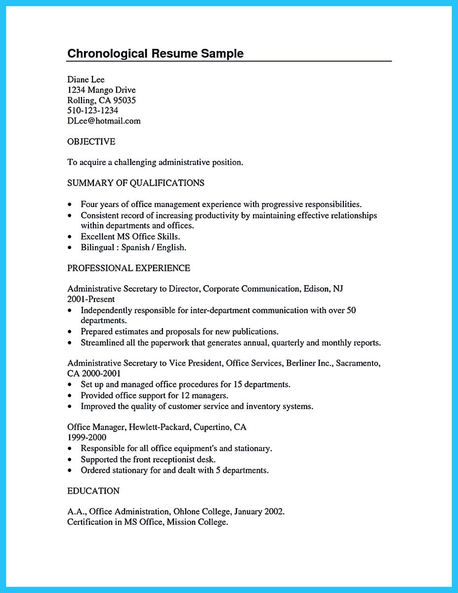 resume examples for no experience college students