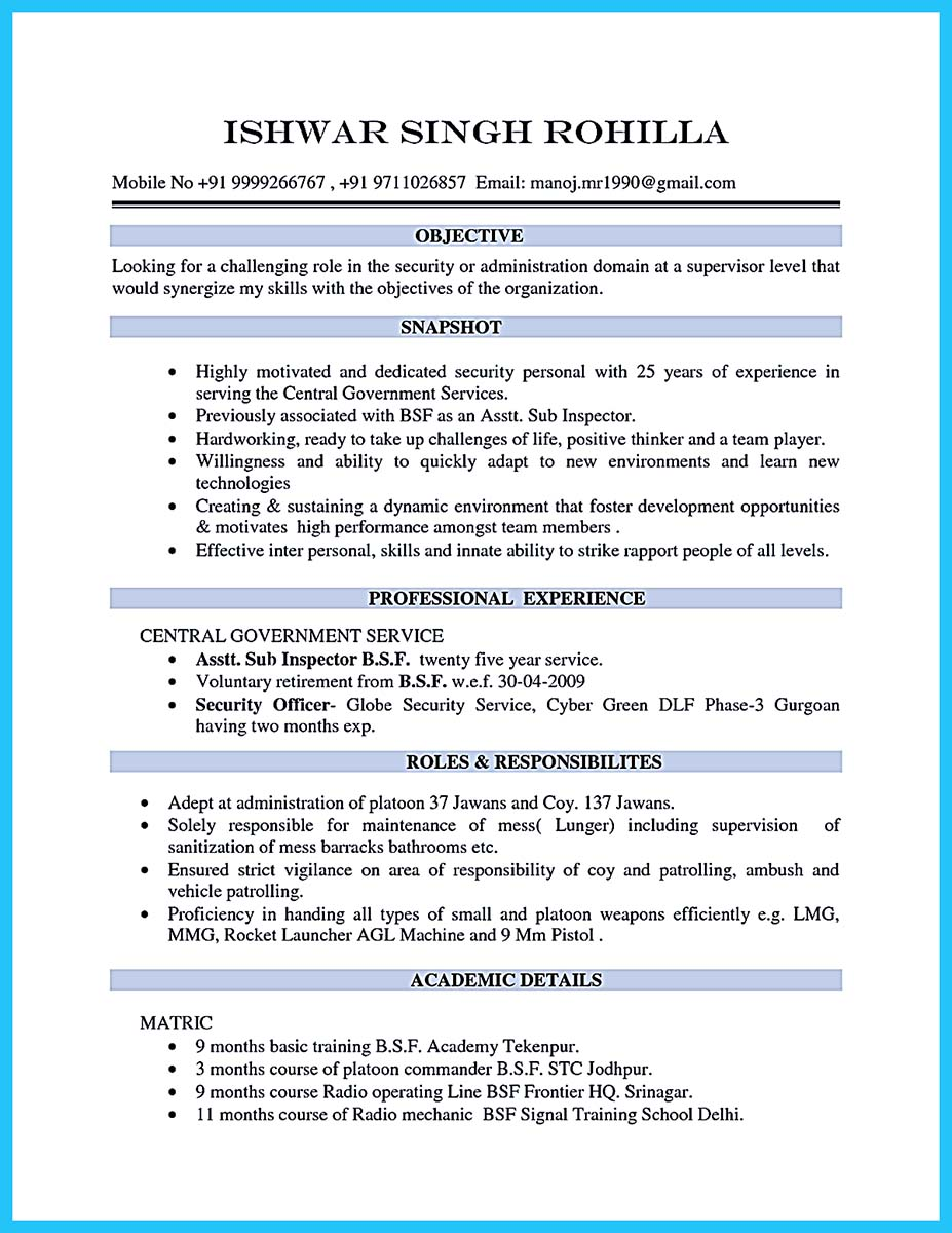 resume examples in college