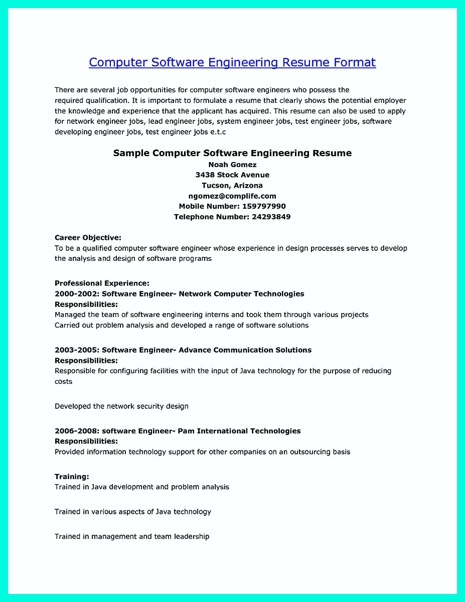 Perfect Engineering Resume The Perfect Computer Engineering Resume Sample To Get Job Soon