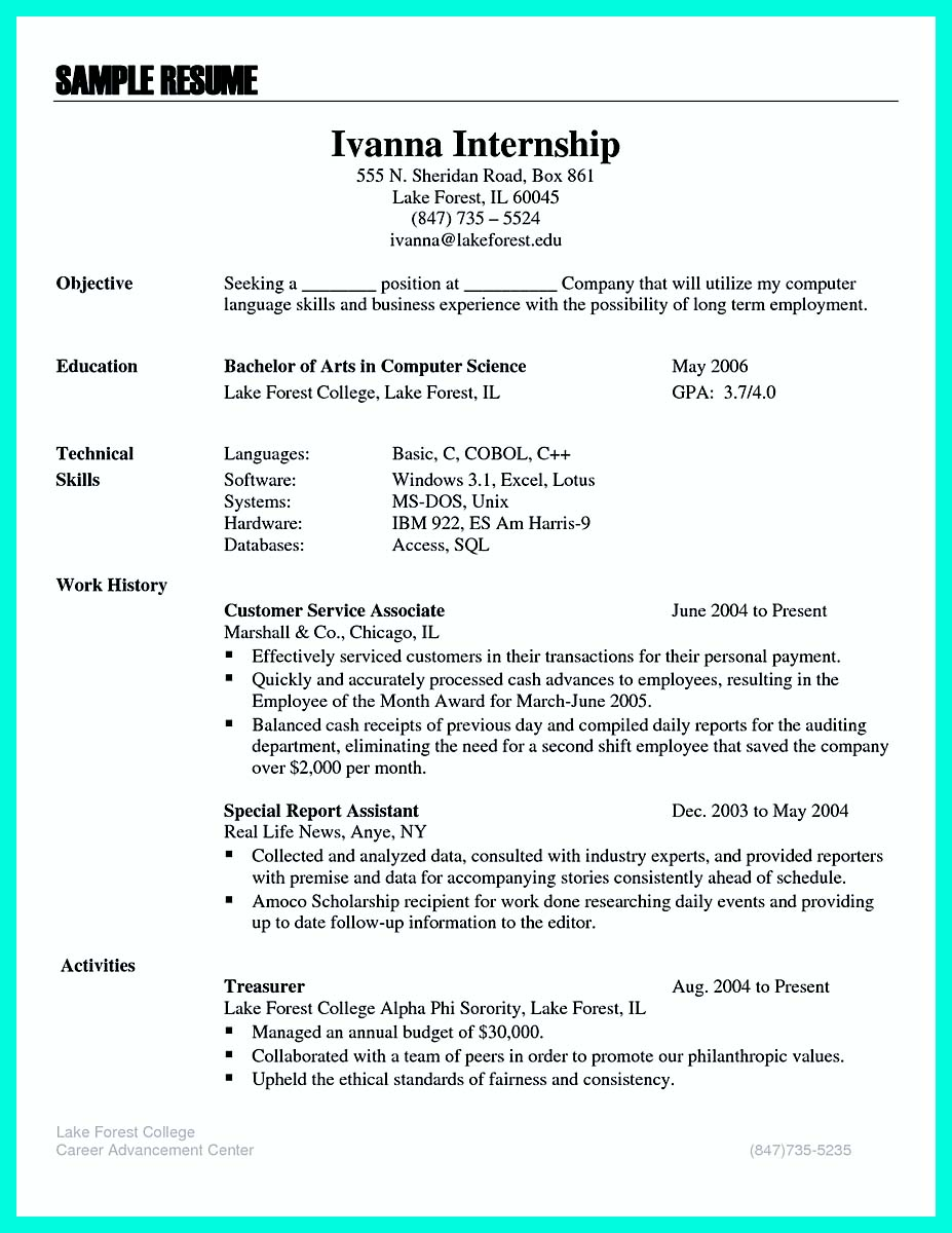 what to put for objective on resume
