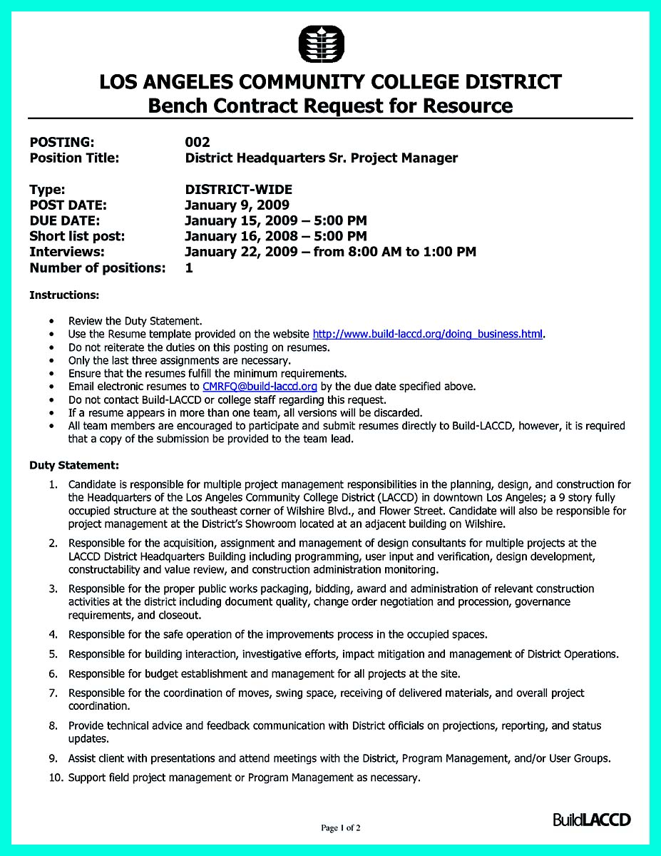 construction management resume examples and samples