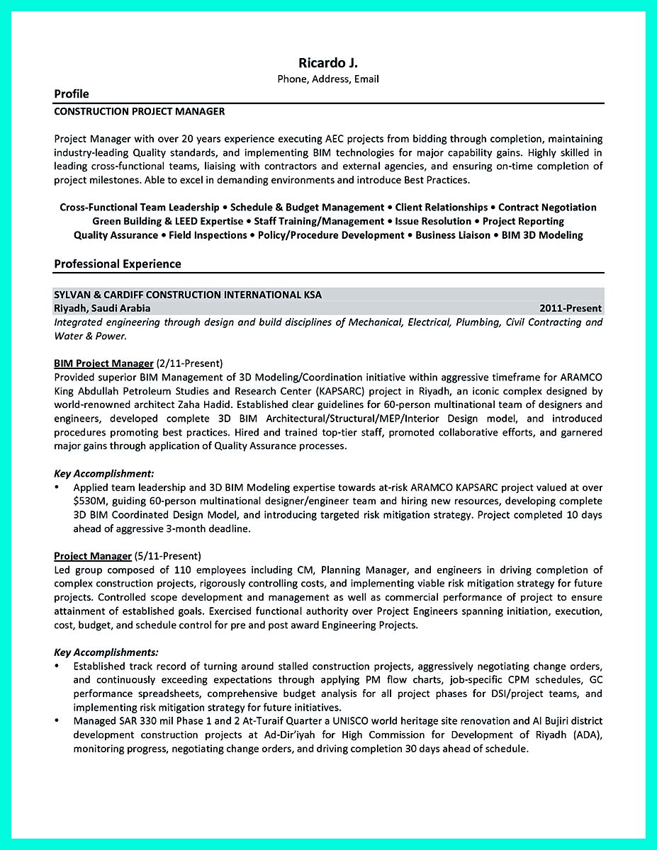 building management resume examples